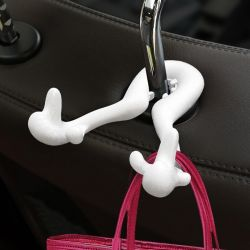 Bag Holder for Seat Back | White