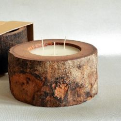 Palm Wood Candle 3 Wicks | Vanilla/Patchouli