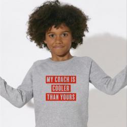 Kinder-Pullover Mein Trainer | Grau