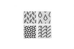 Onderzetters - Set van 4 | Zwart & Wit