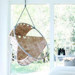 Cocoon Hang Chair | Leather | Beige