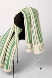Bar-code Blanket Green