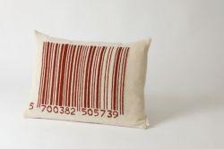 Strichcode-Kissen Rot