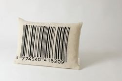Bar-code Cushion Black