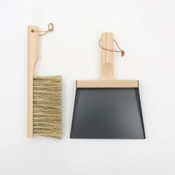 Set of Hand Brush & Dustpan | Mr & Mrs Clynk | Black