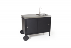 Outdoor Kitchen with Tap & Sink Coldstream | Black