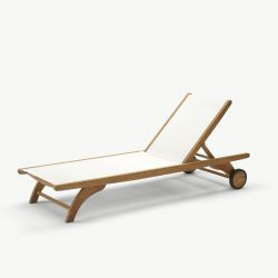 Columbus Sun Lounger | White