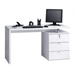 Computertisch 4056 | Icy-Weiß / Weiß Hochglanz