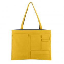 Reversible Shoulder Bag Concorde | Grey & Yellow