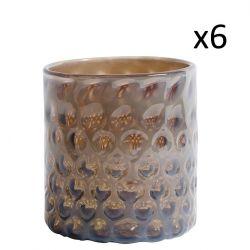 Glas Cone | Set van 6 | Paars