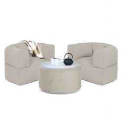 Outdoor Lounge Set Conversation | Beige