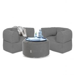 Outdoor Lounge Set Conversation | Grey