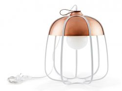 Tull Table Lamp | Copper Coated/White