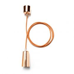 Drop Cap Pendant Set Copper
