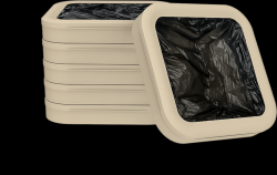 6er-Set Füllringe mit 150 Müllbeuteln | Biologisch Abbaubar