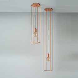 Ceiling Lamp Lines | Hex | Coral