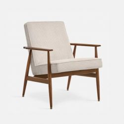 Armchair Fox Cord | Dark Wood 03 & Creme
