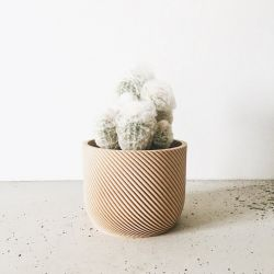 Wooden Geometrical Plant Pot Corde