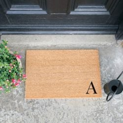 Doormat Monogram Corner Straight | A