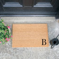 Doormat Monogram Corner Straight | B