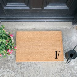 Doormat Monogram Corner Straight | F