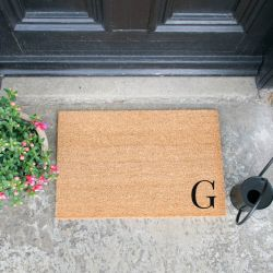 Doormat Monogram Corner Straight | G