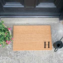 Doormat Monogram Corner Straight | H