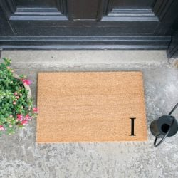 Doormat Monogram Corner Straight | I