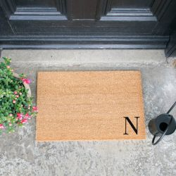 Doormat Monogram Corner Straight | N