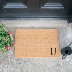 Doormat Monogram Corner Straight | U