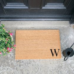 Doormat Monogram Corner Straight | W