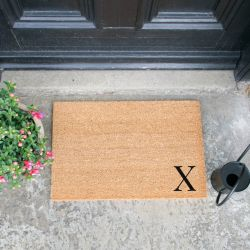Doormat Monogram Corner Straight | X