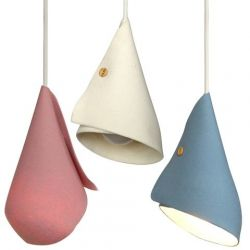 Set of 3 lampshades Soft Tones