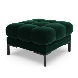 Velvet Pouf Bali | Bottle Green