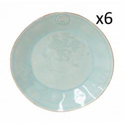 Essteller Nova Ø 27 cm 6er-Set | Türkis