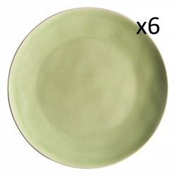 Essteller Riviera Ø 27 cm 6er-Set | Frisches Grün