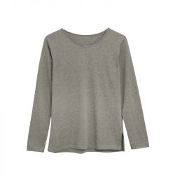 Cotton T-Shirt Long Sleeve | Grey Calella
