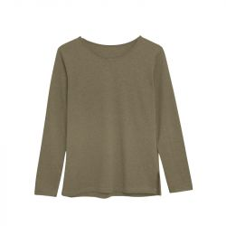 Cotton T-Shirt Long Sleeve | Green