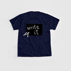 """Cotton Twitter"" Writable T-shirt Children | Navy"