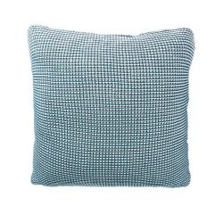 Roccamare Knitted Cushion | Prussian Blue
