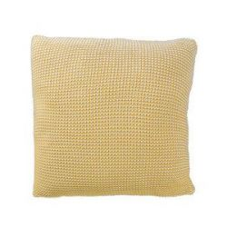 Roccamare Knitted Cushion | Mustard Yellow