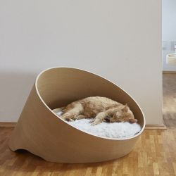 Covo Cat Lounge | Oak/Ivory