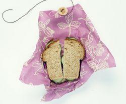 Bienenwachstuch Sandwich 33 x 33 cm | Mimi's Purple