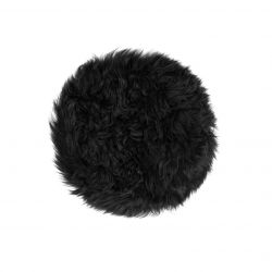 New Zealand Sheepskin Chair Pad Round | Black