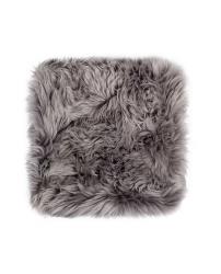 Neuseeland Schaffell Stuhl Kissen Quadrat | Grau