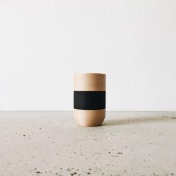 Wooden Crayon Holder | Light Wood & Black