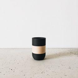 Pot à Crayon en Bois | Noir & Bois Clair