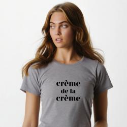 ♀ T-shirt Crème | Gris