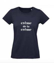 ♀ T-shirt Crème | Blue