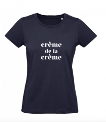 ♀ T-shirt Crème | Bleu